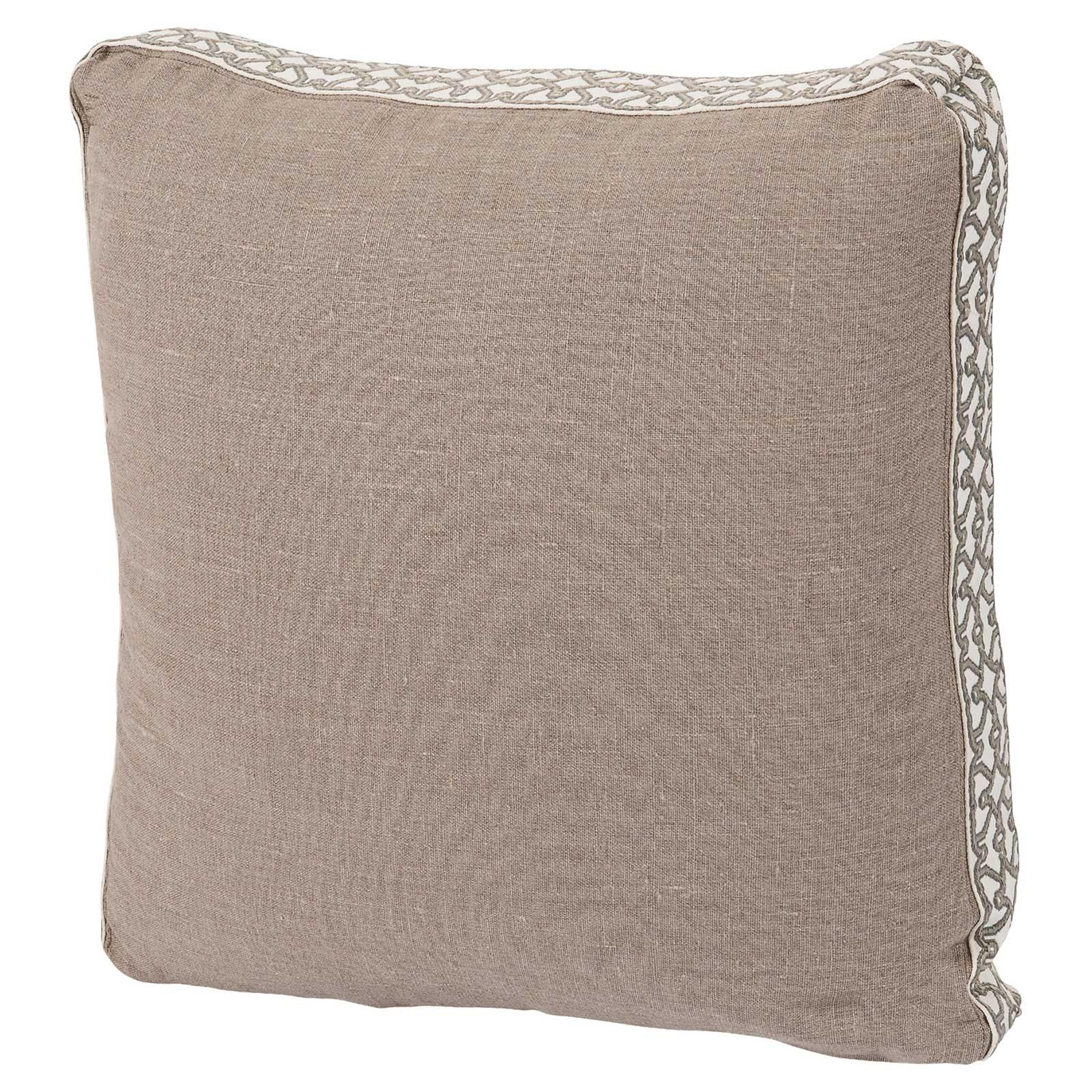 Jerri Modern Classic Pattern Box Edge Beige Pillow - 18x18