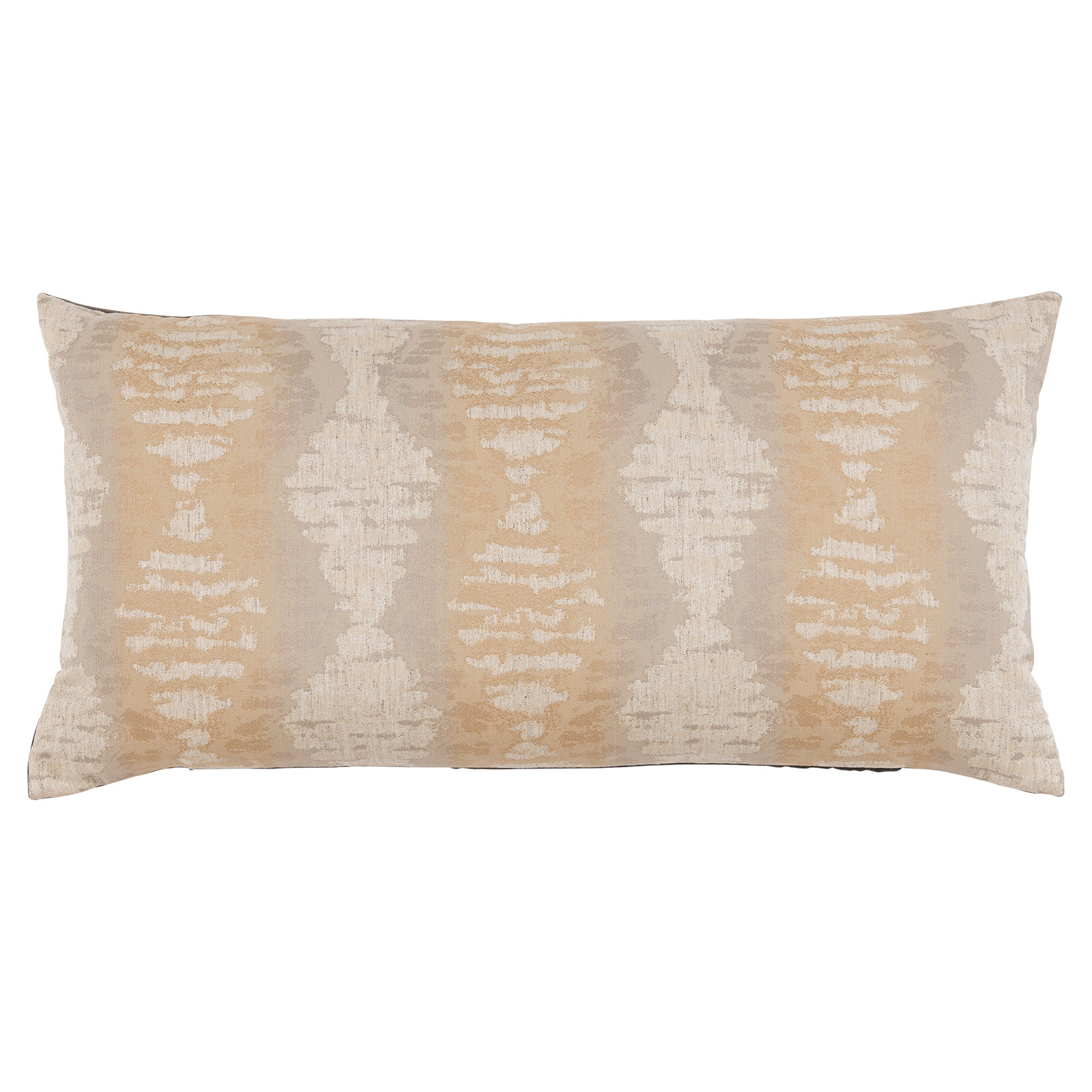 Marnie Global Distressed Diamond Beige Grey Pillow - 14x28