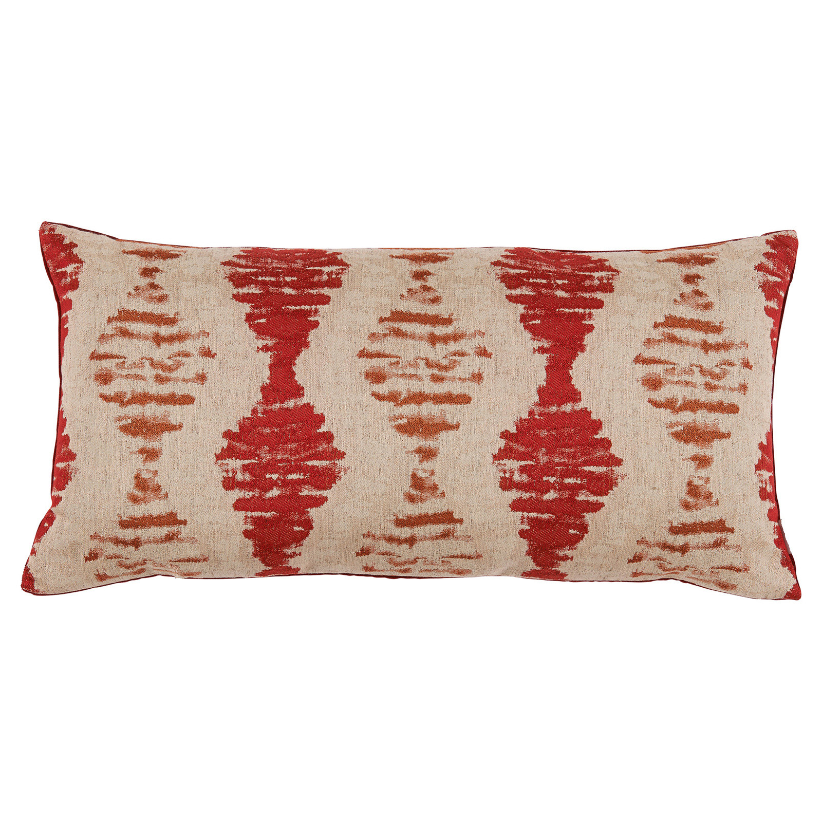 Marnie Global Distressed Diamond Rust Red Pillow - 14x28