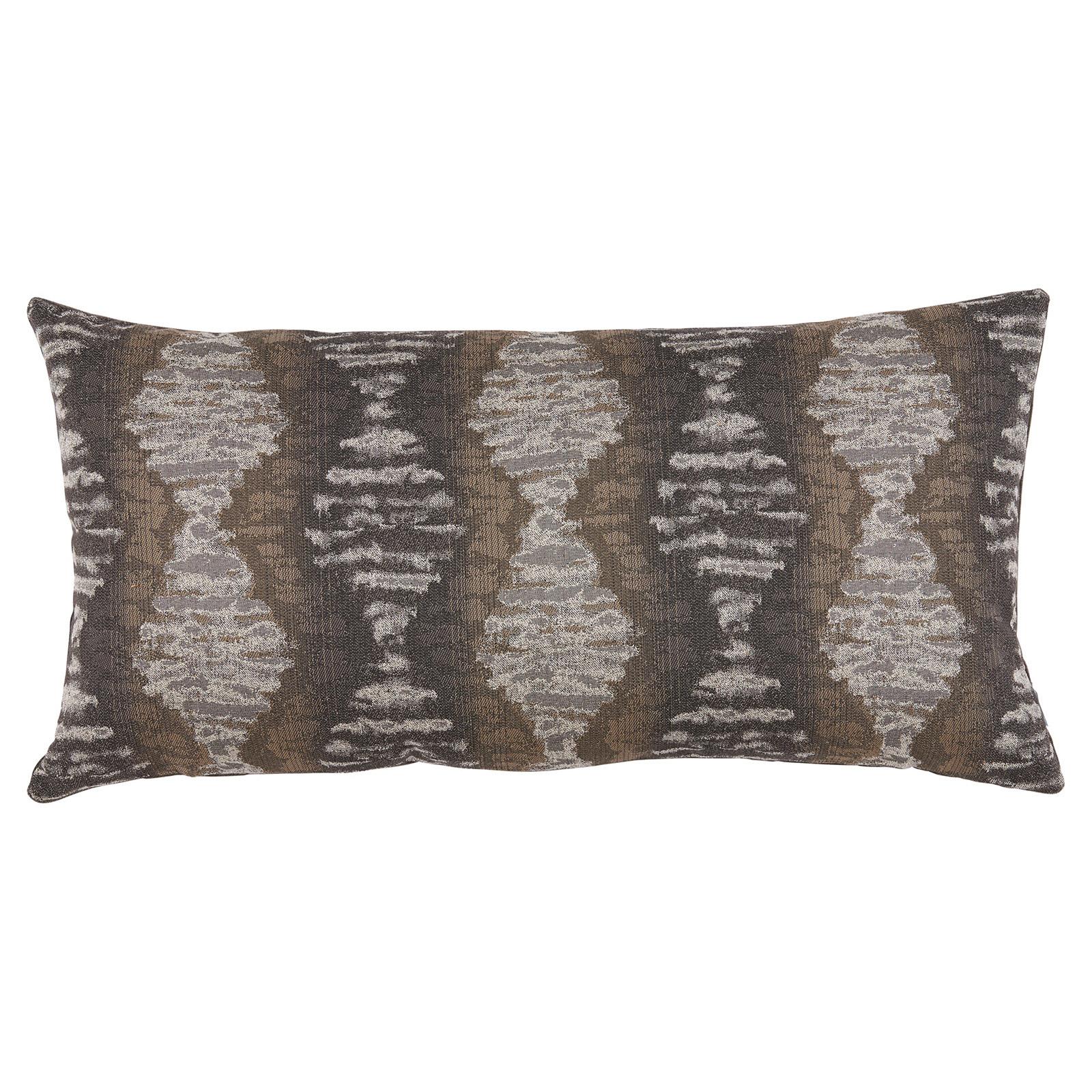 Marnie Global Distressed Diamond Charcoal Grey Pillow - 14x28
