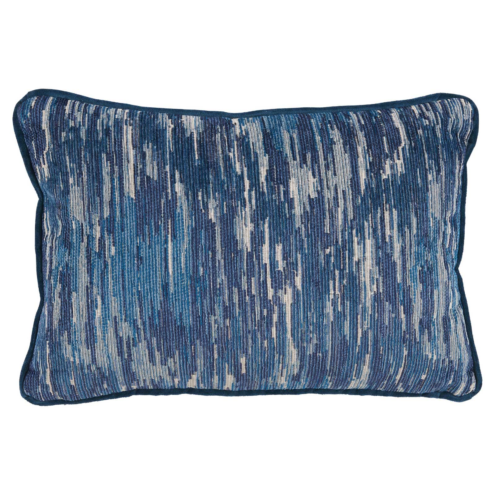 Oz Modern Classic Indigo Blue Linear Pillow - 13x19