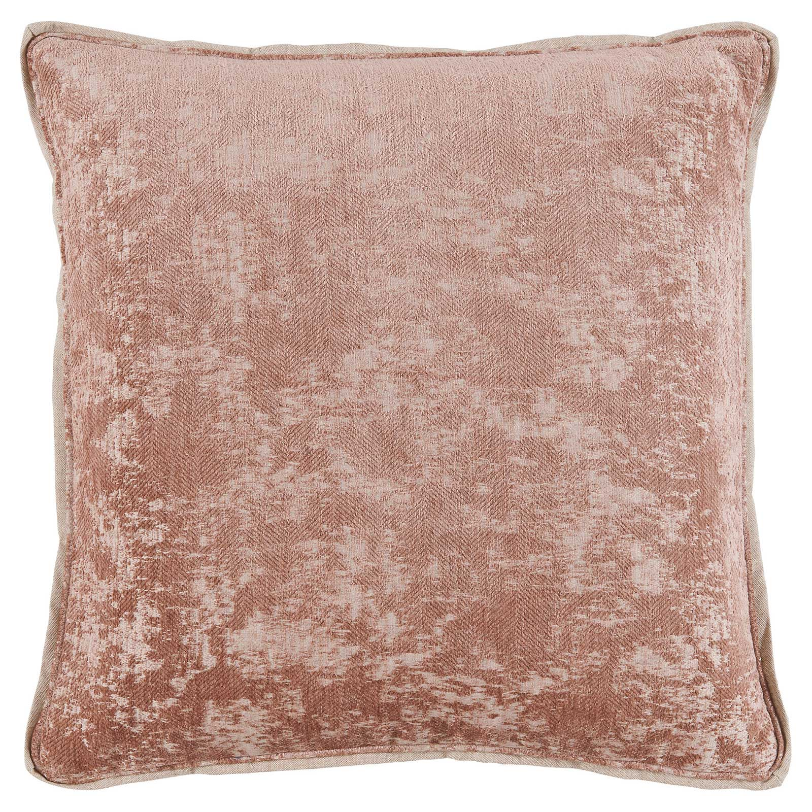Harriet Regency Washed Herringbone Rose Pillow - 22x22