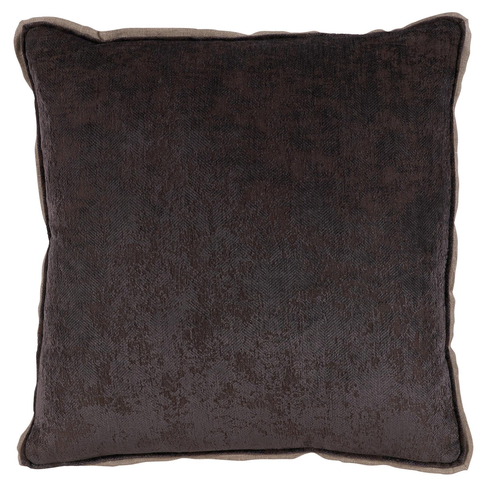 Harriet Regency Washed Herringbone Rust Red Pillow - 22x22