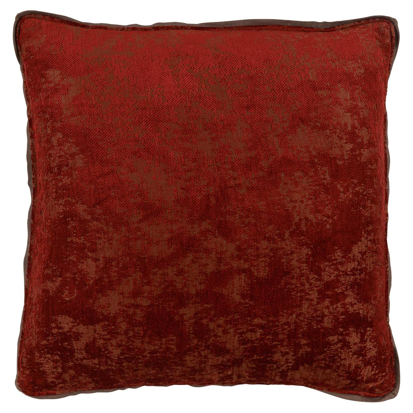 Harriet Regency Washed Herringbone Brown Pillow - 22x22