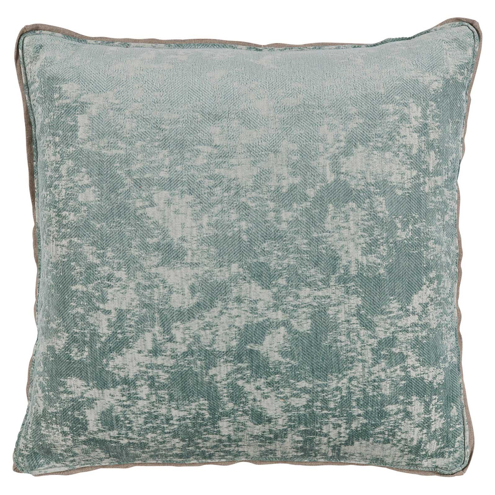 Harriet Regency Washed Herringbone Teal Pillow - 22x22