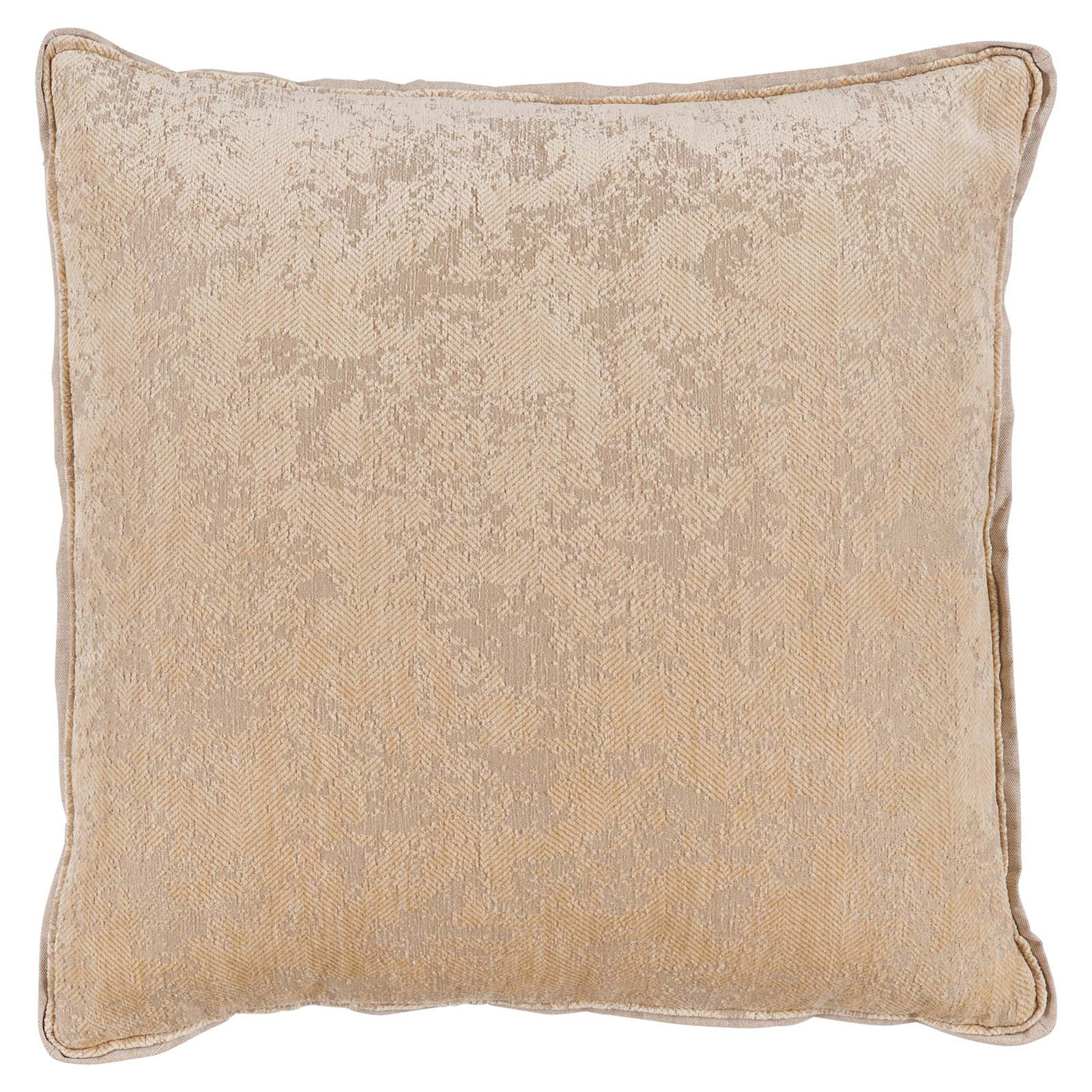 Harriet Regency Washed Herringbone Beige Pillow - 22x22