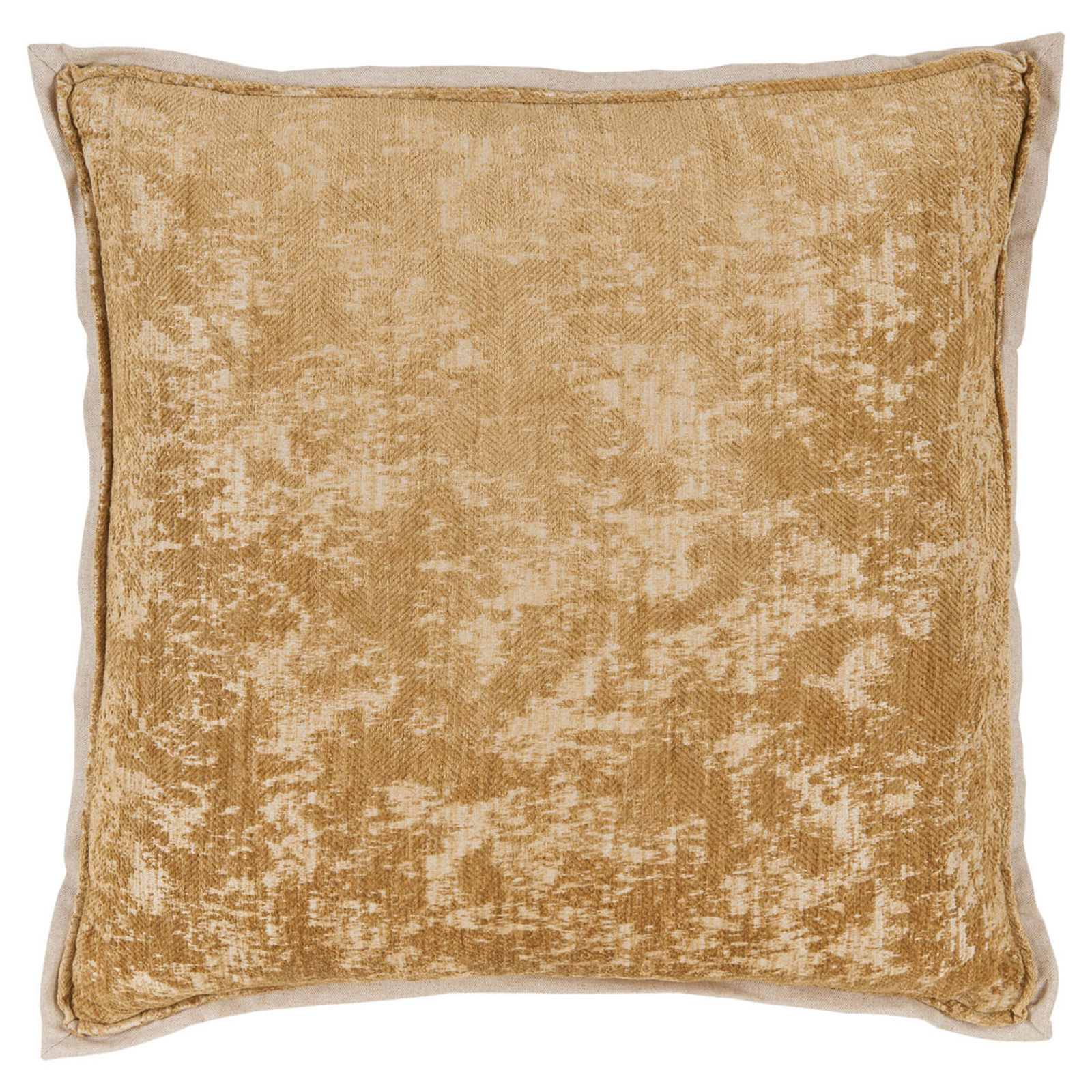 Harriet Regency Washed Herringbone Gold Pillow - 22x22