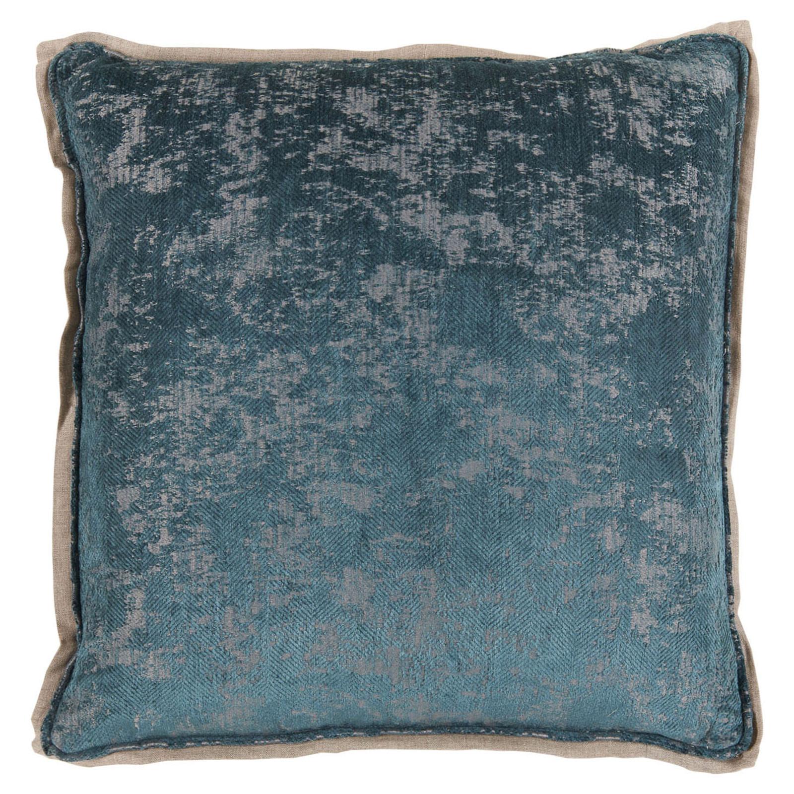 Harriet Regency Washed Herringbone Navy Pillow - 22x22