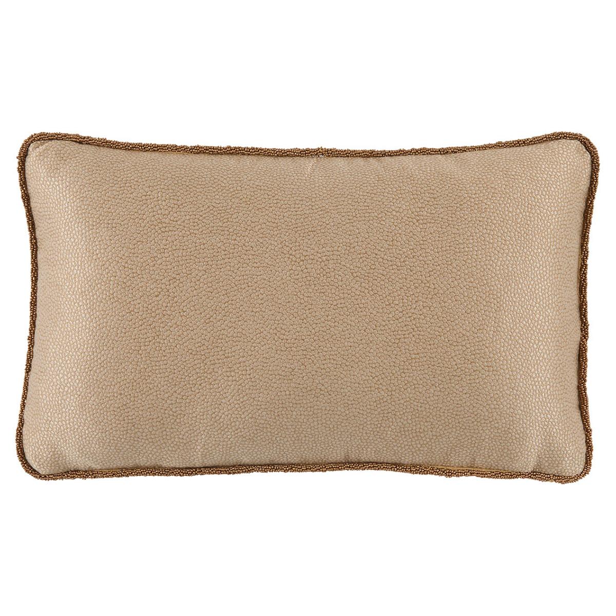 Felix Regency Beaded Cord Beige Shagreen Pillow - 13x22
