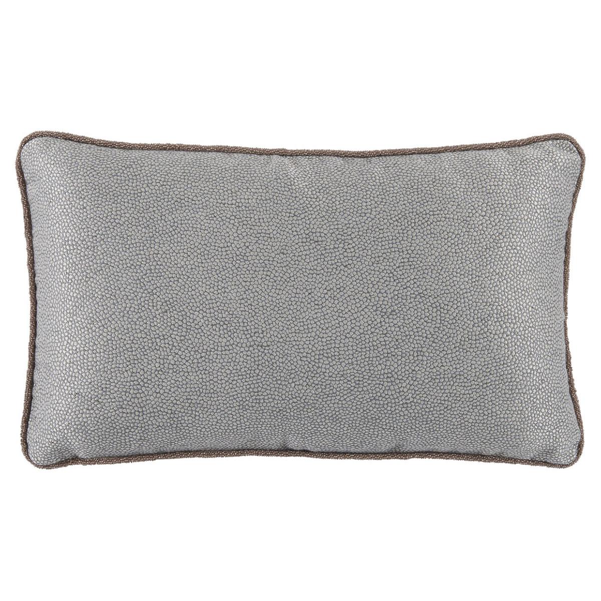Felix Regency Beaded Cord Fog Blue Shagreen Pillow - 13x22