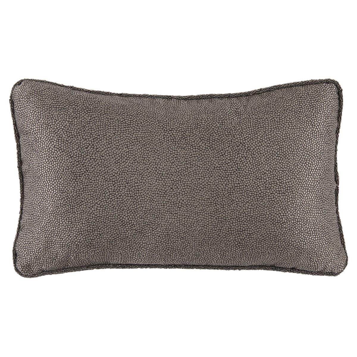 Felix Regency Beaded Cord Charcoal Shagreen Pillow - 13x22