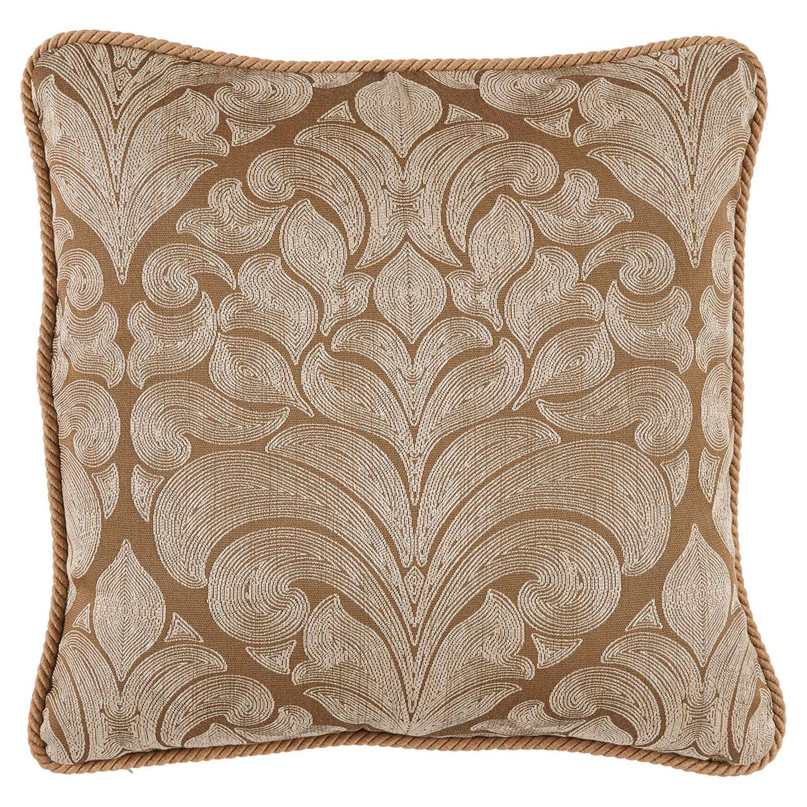 Pepin French Woven Gold Medallion Pillow - 22x22