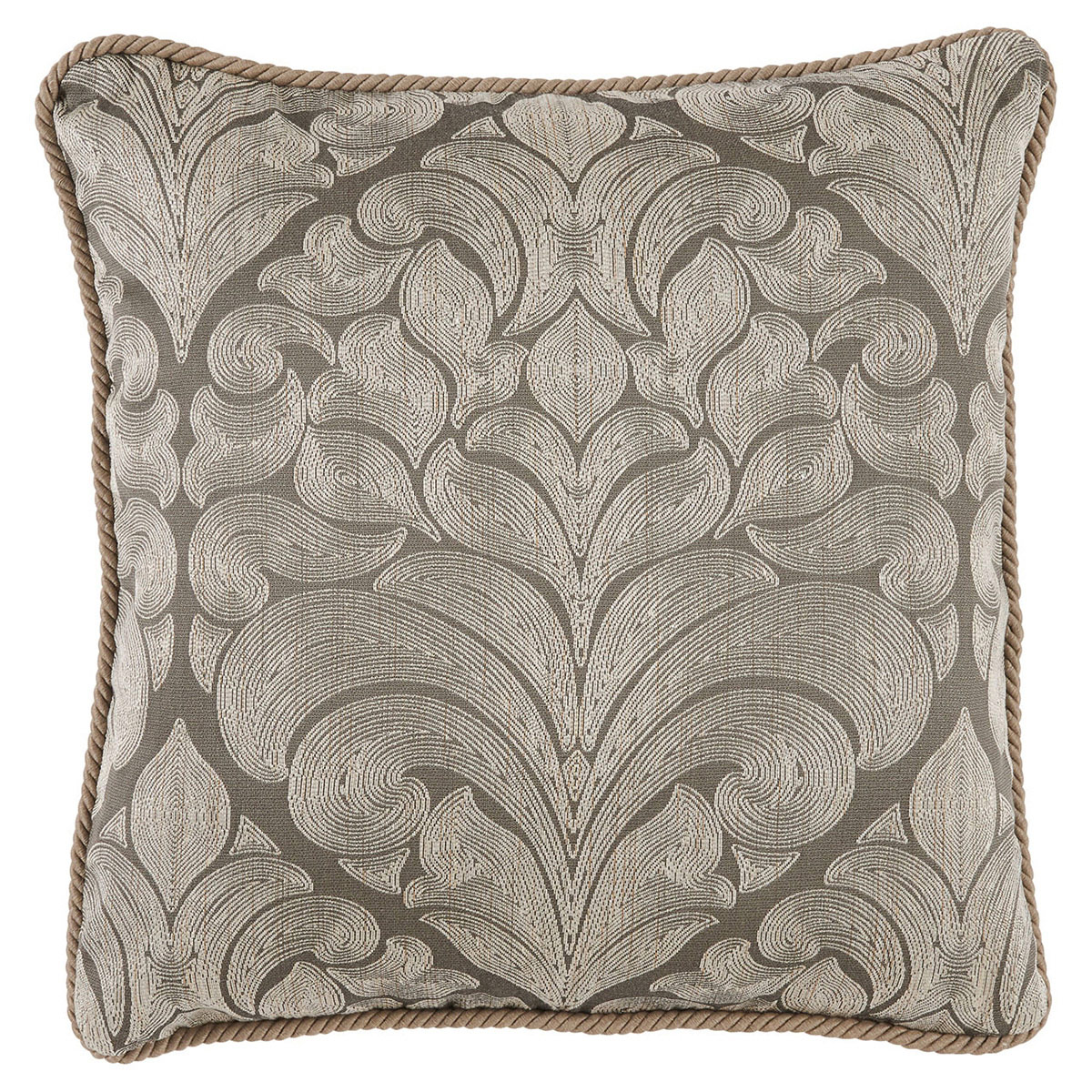 Pepin French Woven Grey Medallion Pillow - 22x22