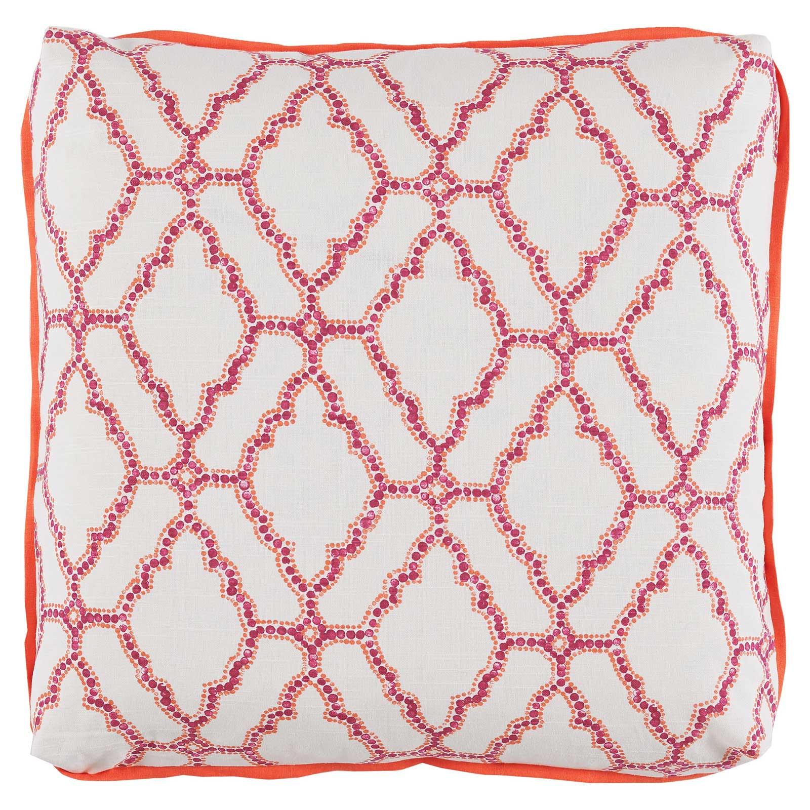 Esma Global Bazaar Turkish Medallion Berry Linen Pillow- 24x24
