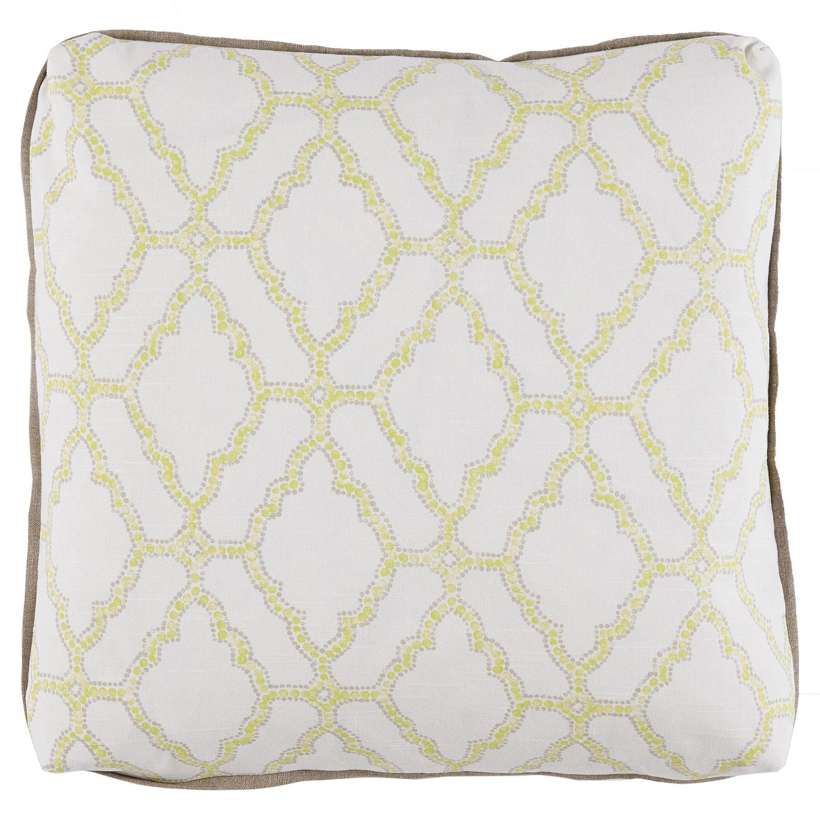 Esma Global Bazaar Turkish Medallion Yellow Linen Pillow- 24x24