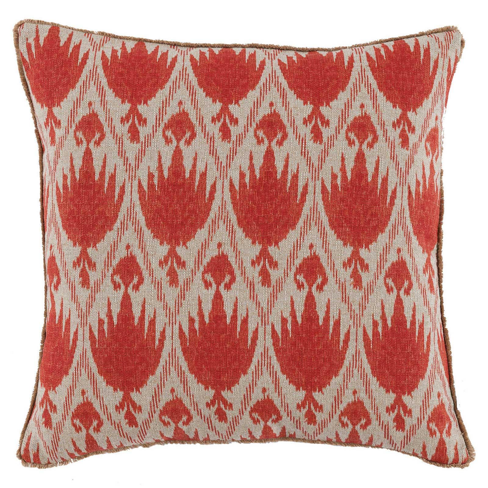 Joli Global Bazaar Red Ikat Linen Pillow - 20x20