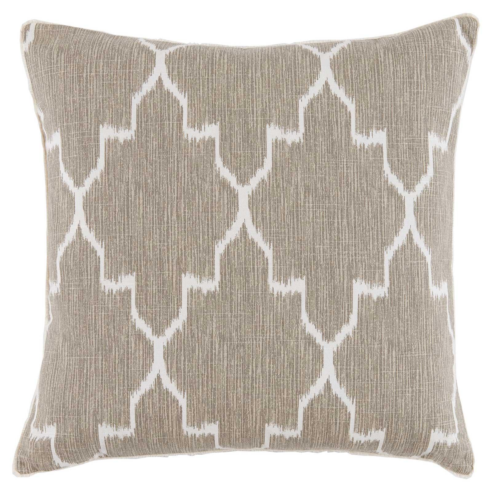 Avi Global Bazaar Ivory Fret Beige Linen Pillow - 20x20