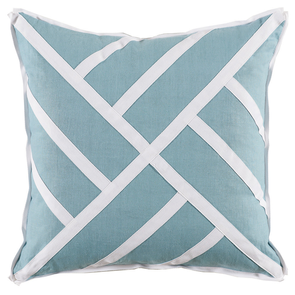 Tab Modern Classic Sky Blue Pinwheel Pillow - 22x22