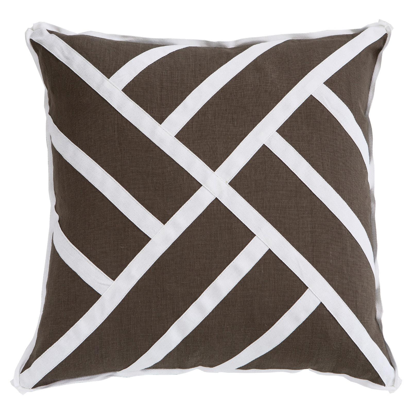 Tab Modern Classic Brown Pinwheel Pillow - 22x22