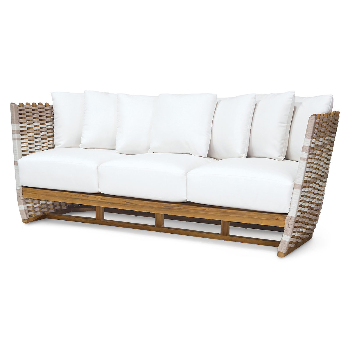 Hines Modern Classic Rope Wrapped Outdoor Sofa