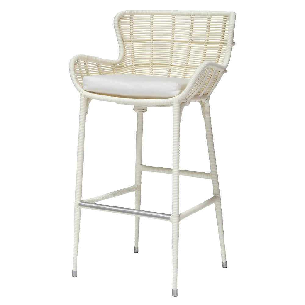 Lacey Modern Classic Cream Outdoor Counter Stool