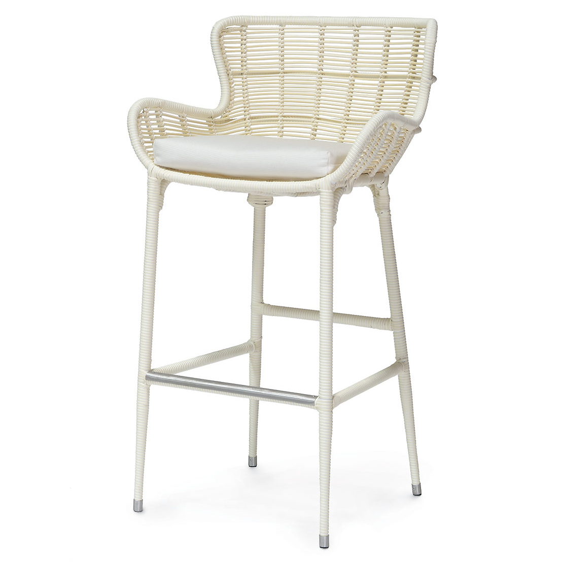 Lacey Modern Classic Cream Outdoor Barstool