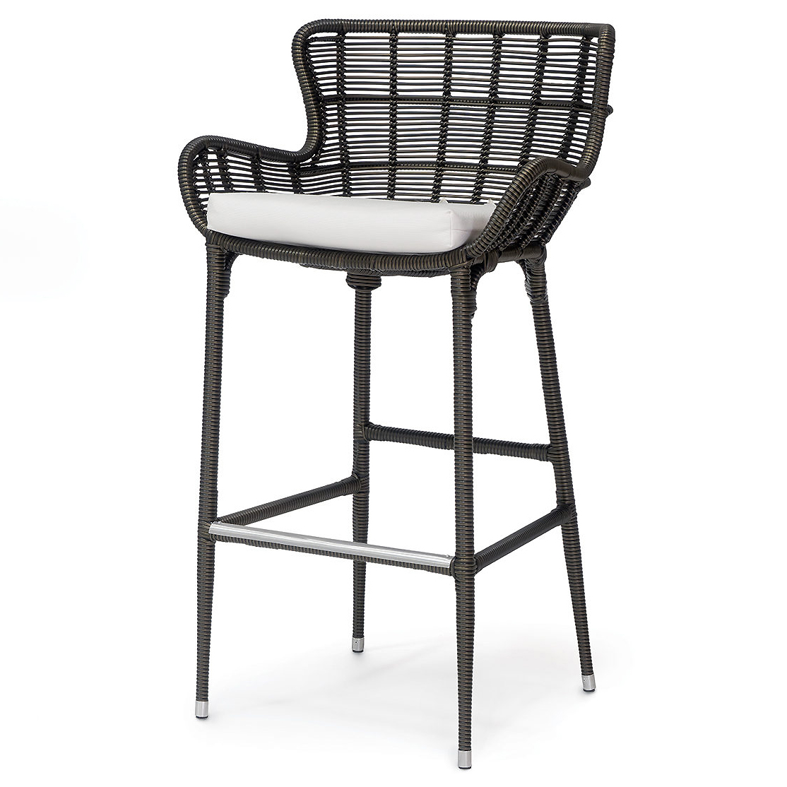 Lacey Modern Classic Espresso Outdoor Barstool