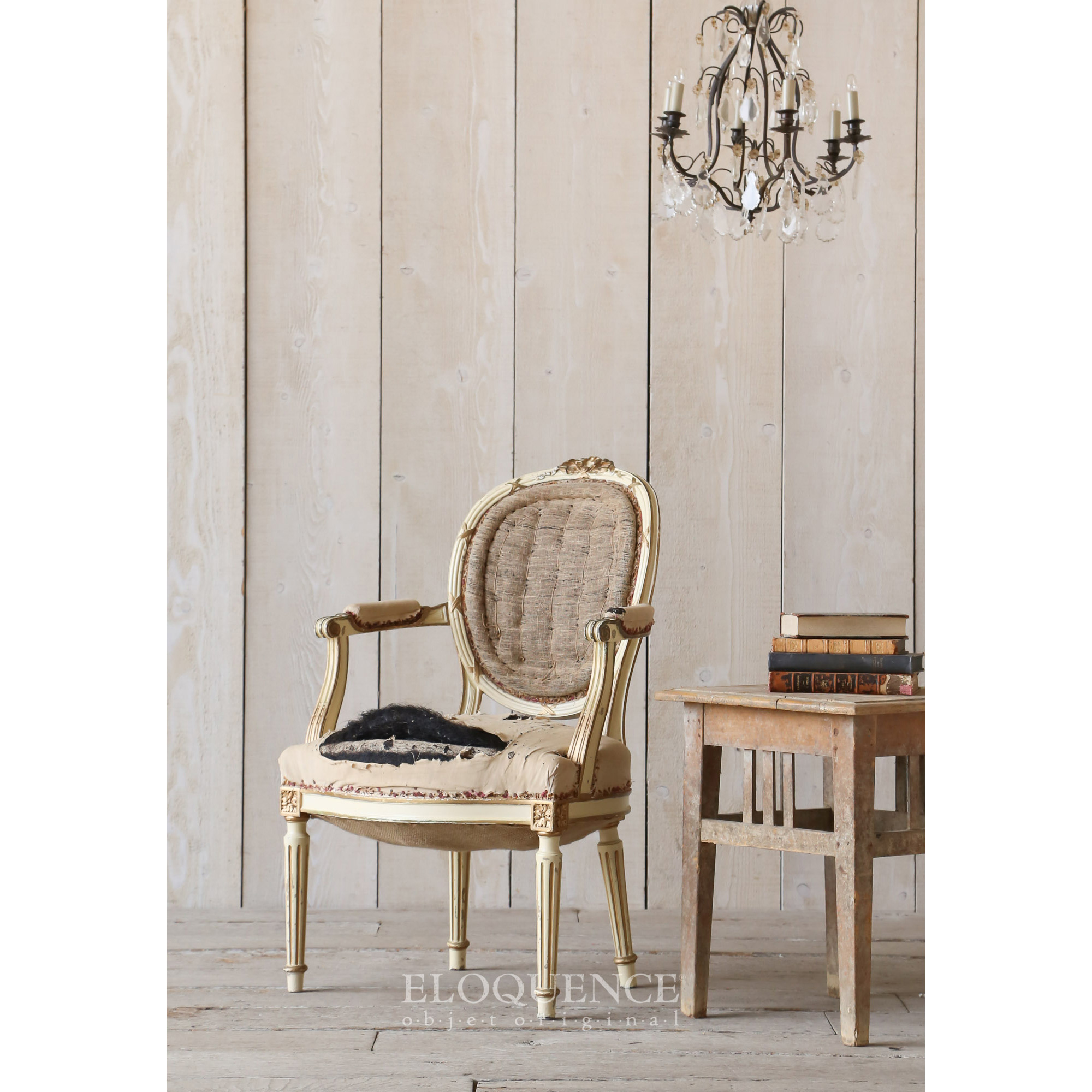 Eloquence® Vintage French Cream Gold Original Armchair