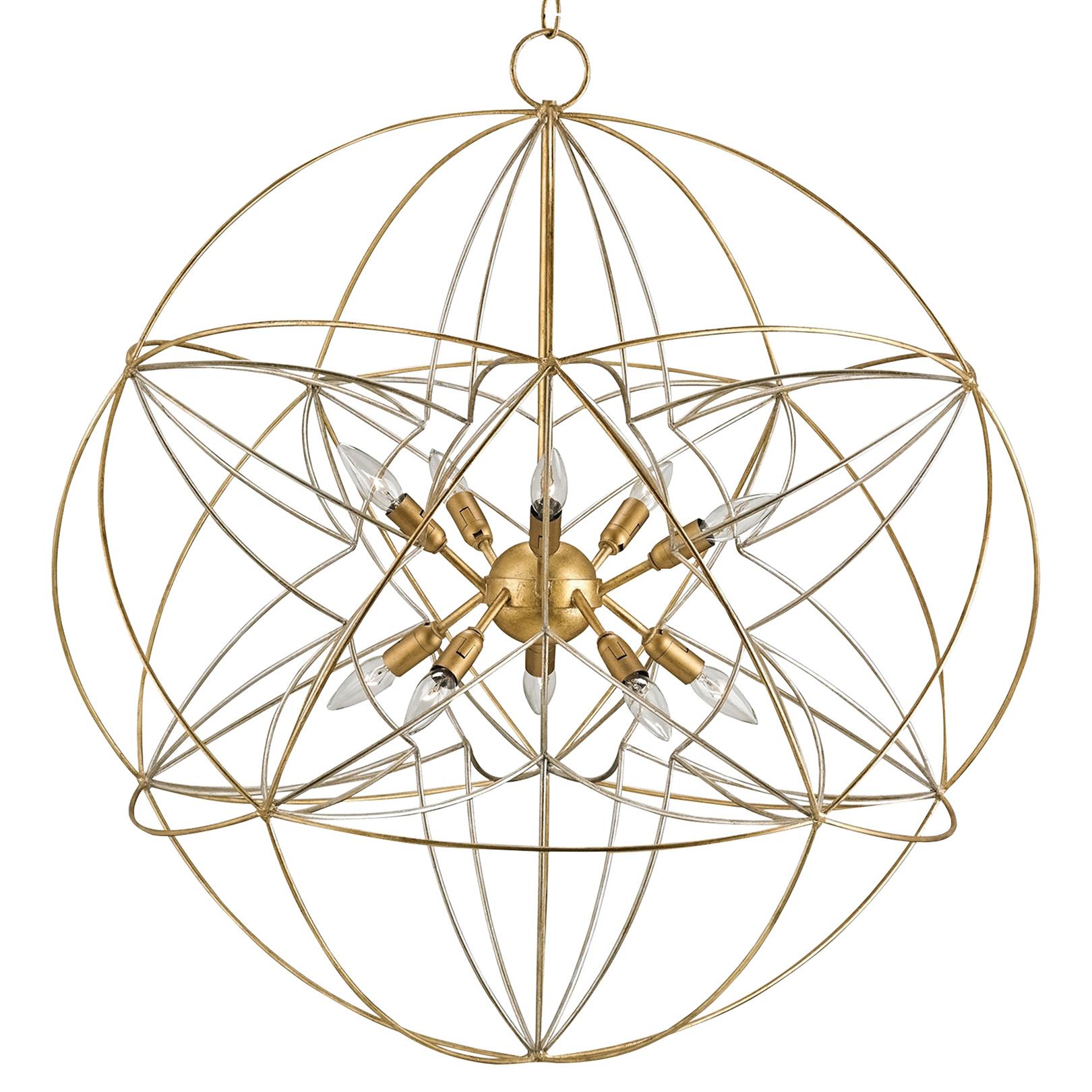 Nirvelli Modern Classic Atomic Gold Globe Chandelier