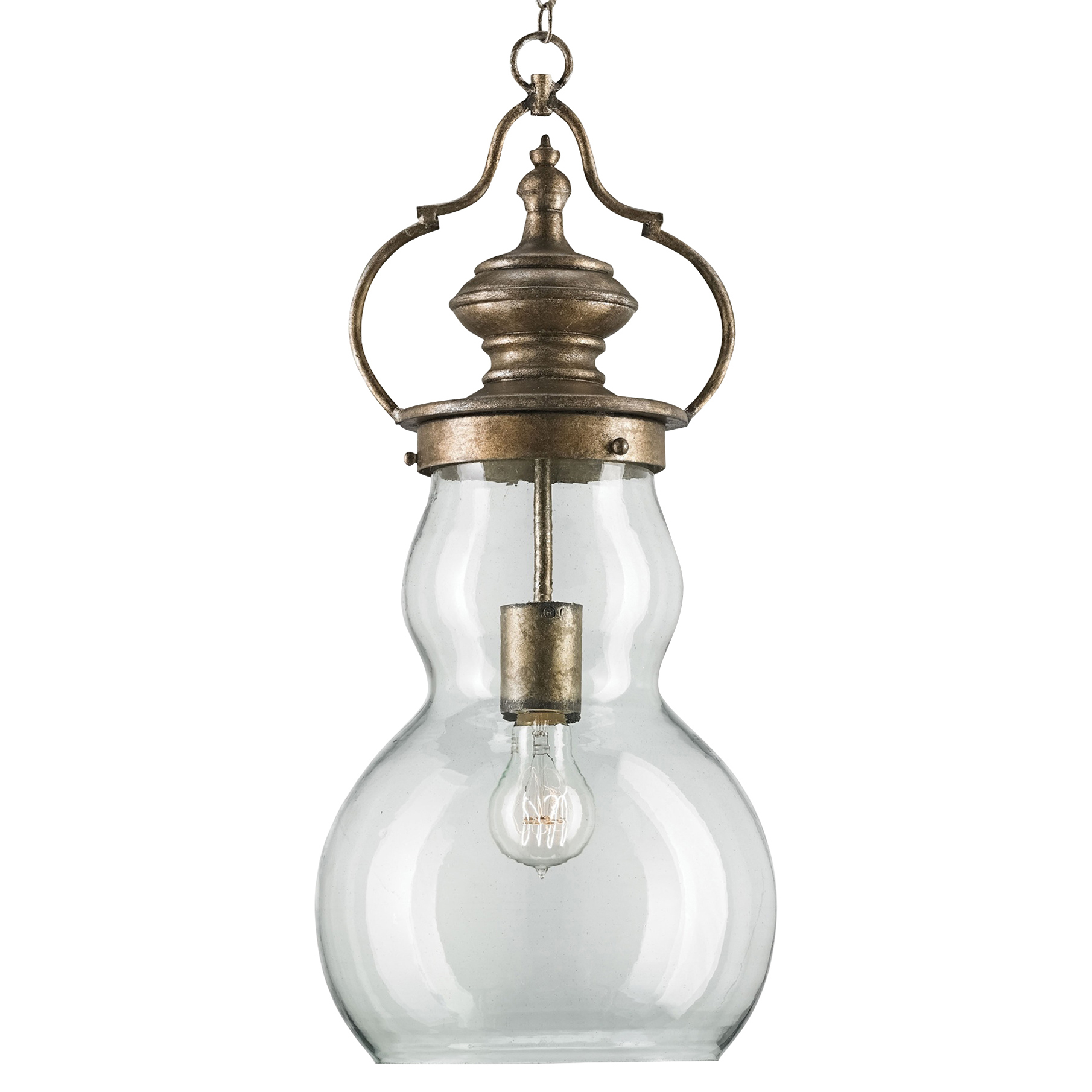 Charmian Industrial Loft Traditional Bronze Iron Pendant