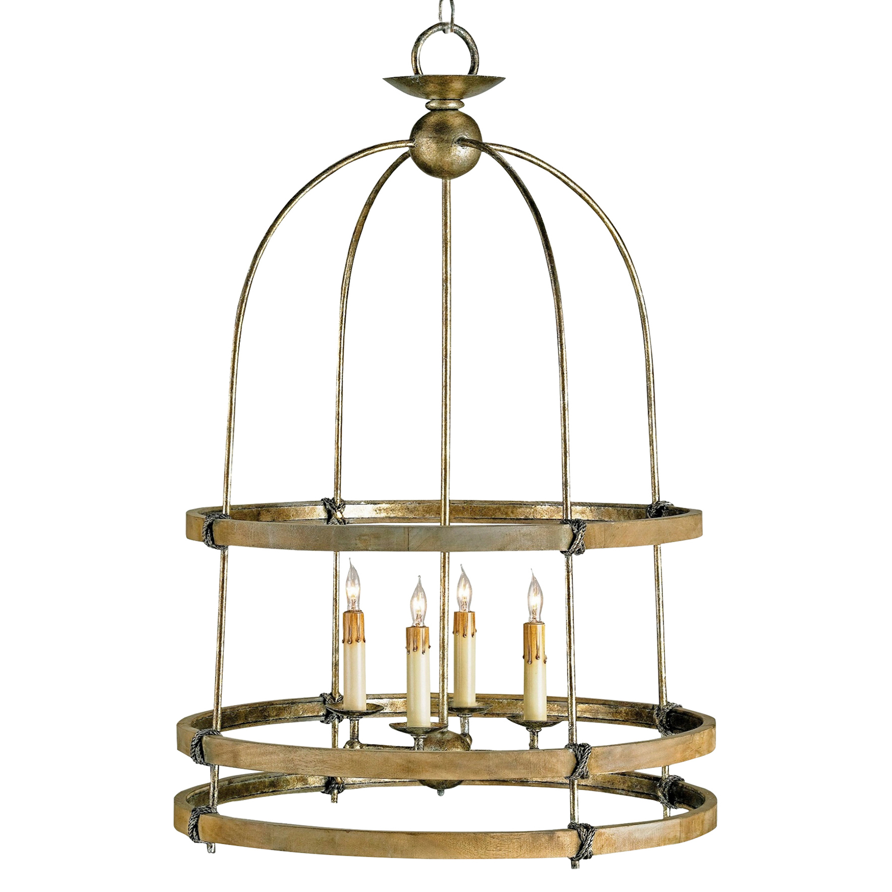Brant Rustic Lodge Wood Cylinder Knot Arched Lantern