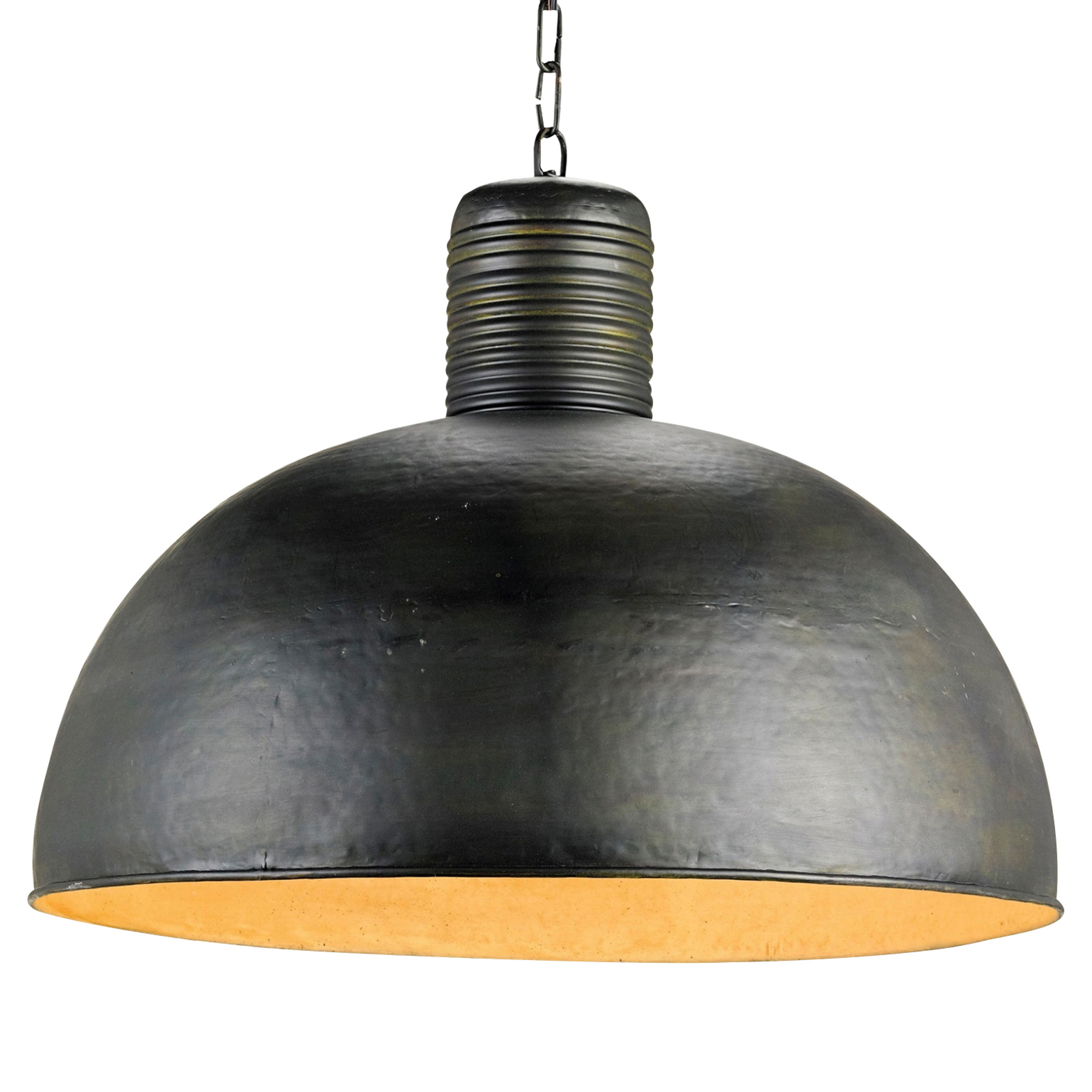 Bevin Industrial Loft Black Steel Dome Pendant