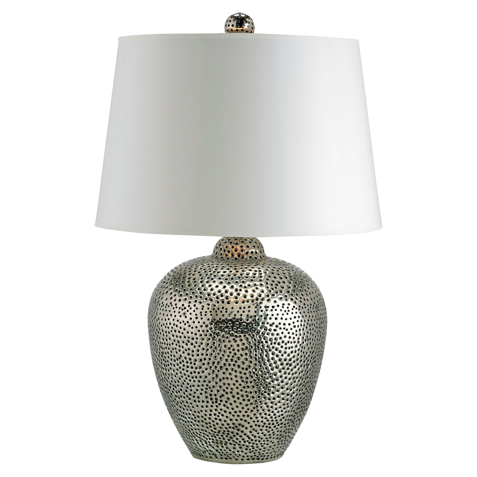 disco table twig lamp silver