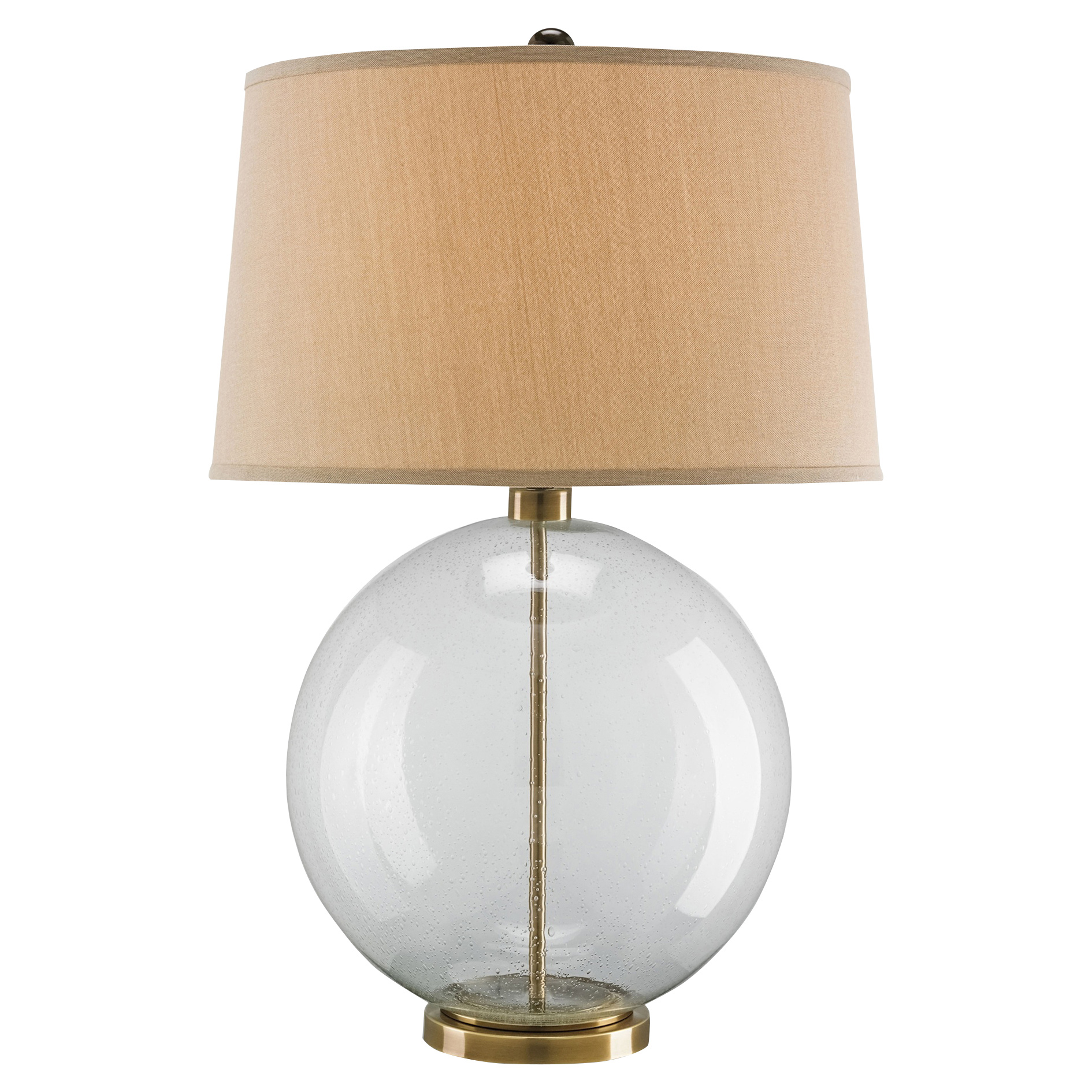Cyprien  Coastal Beach Glass Sphere Bronze Table Lamp