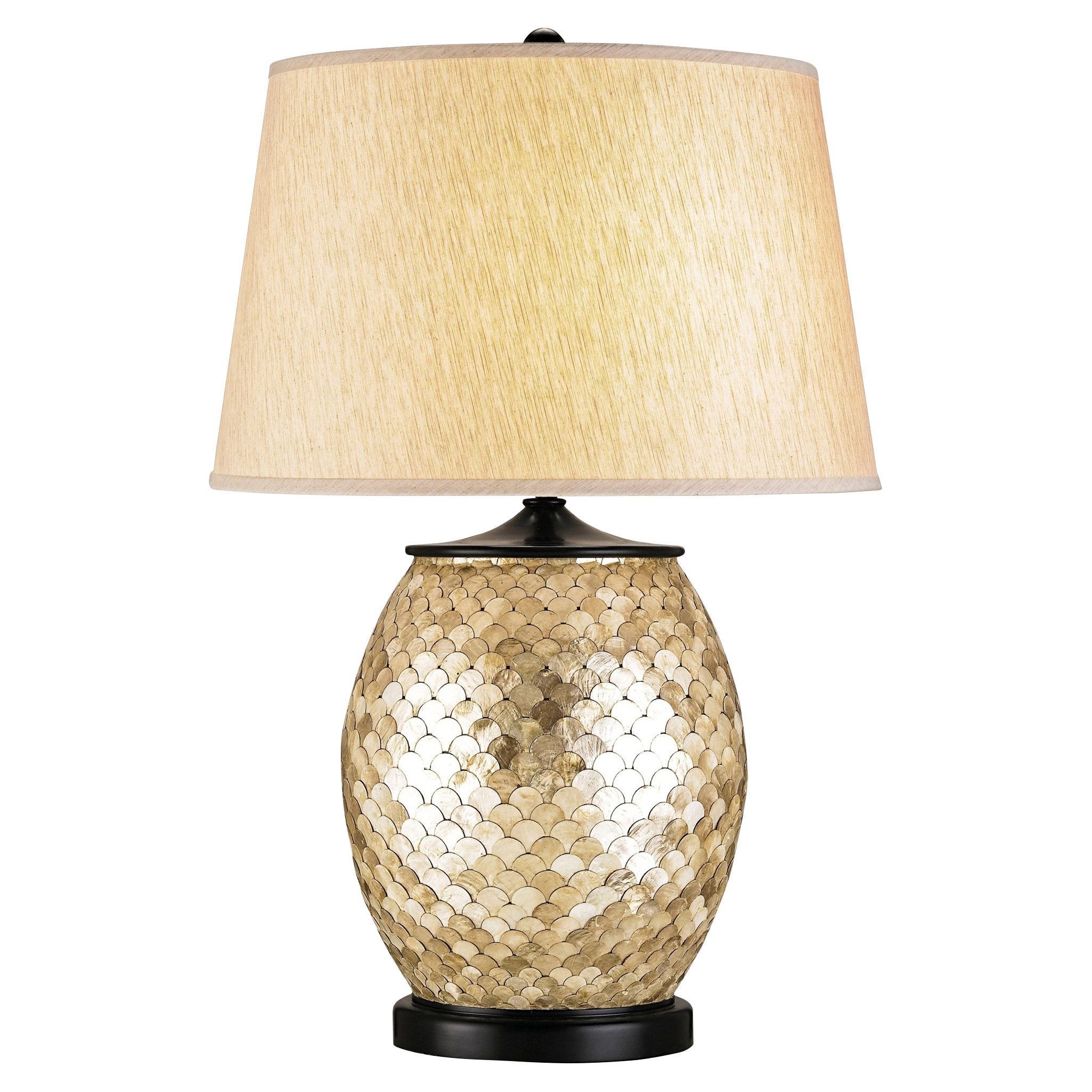 Bedelia Coastal Beach Gilded Gold Scale Table Lamp
