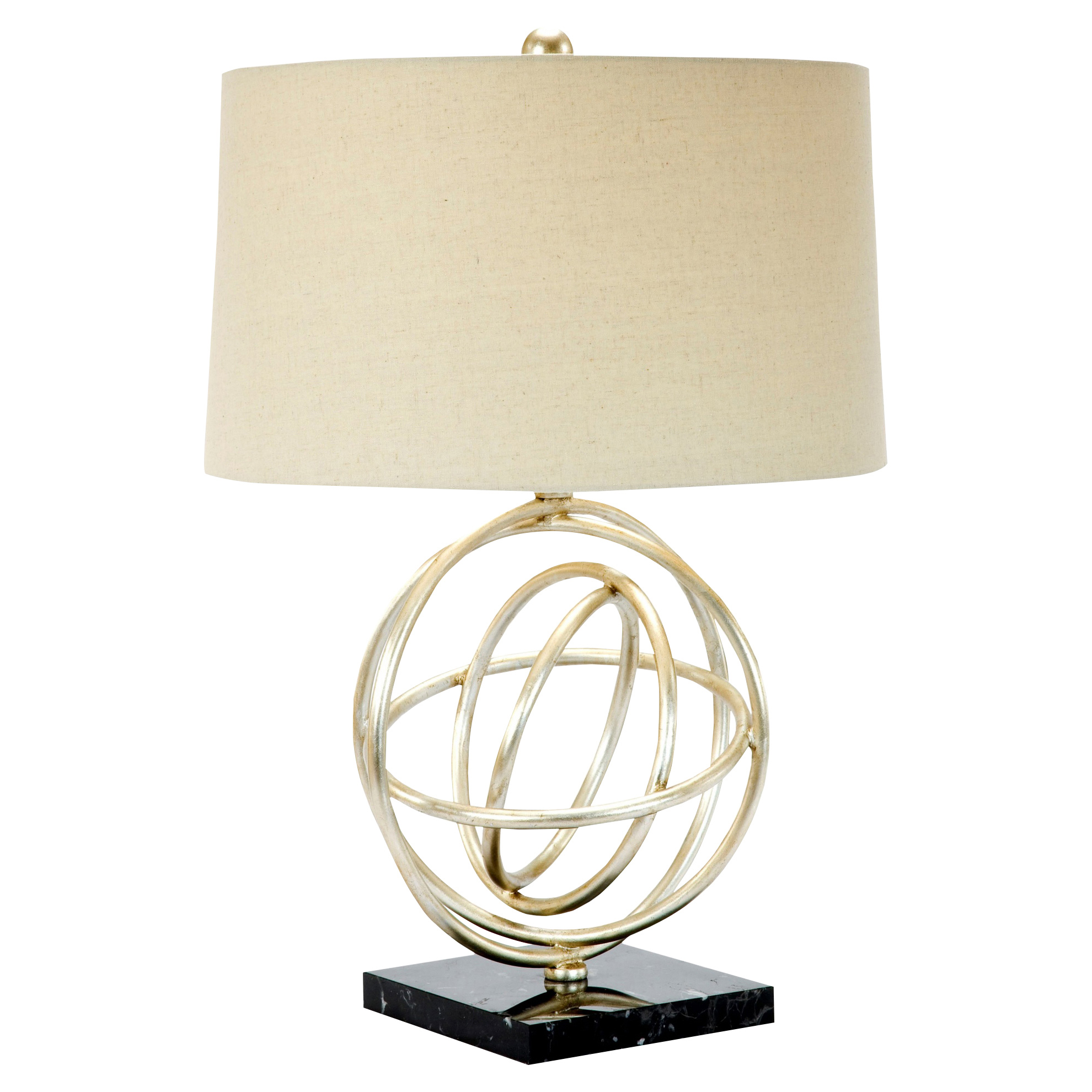 Aleksy Modern Classic Silver Celestial Table Lamp