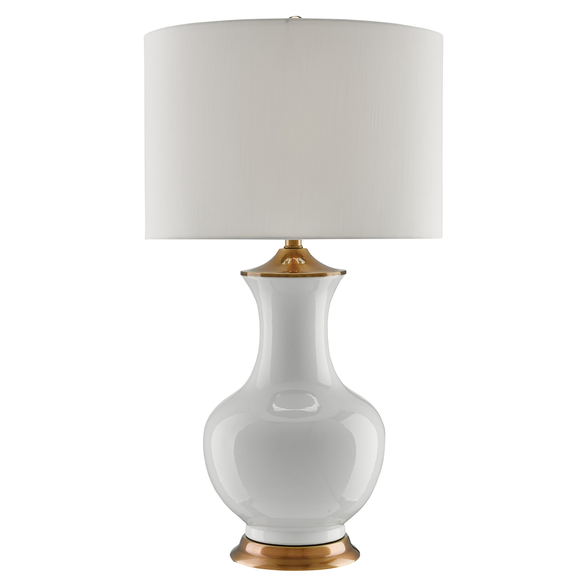 Disa Global Bazaar White Ceramic Genie Table Lamp