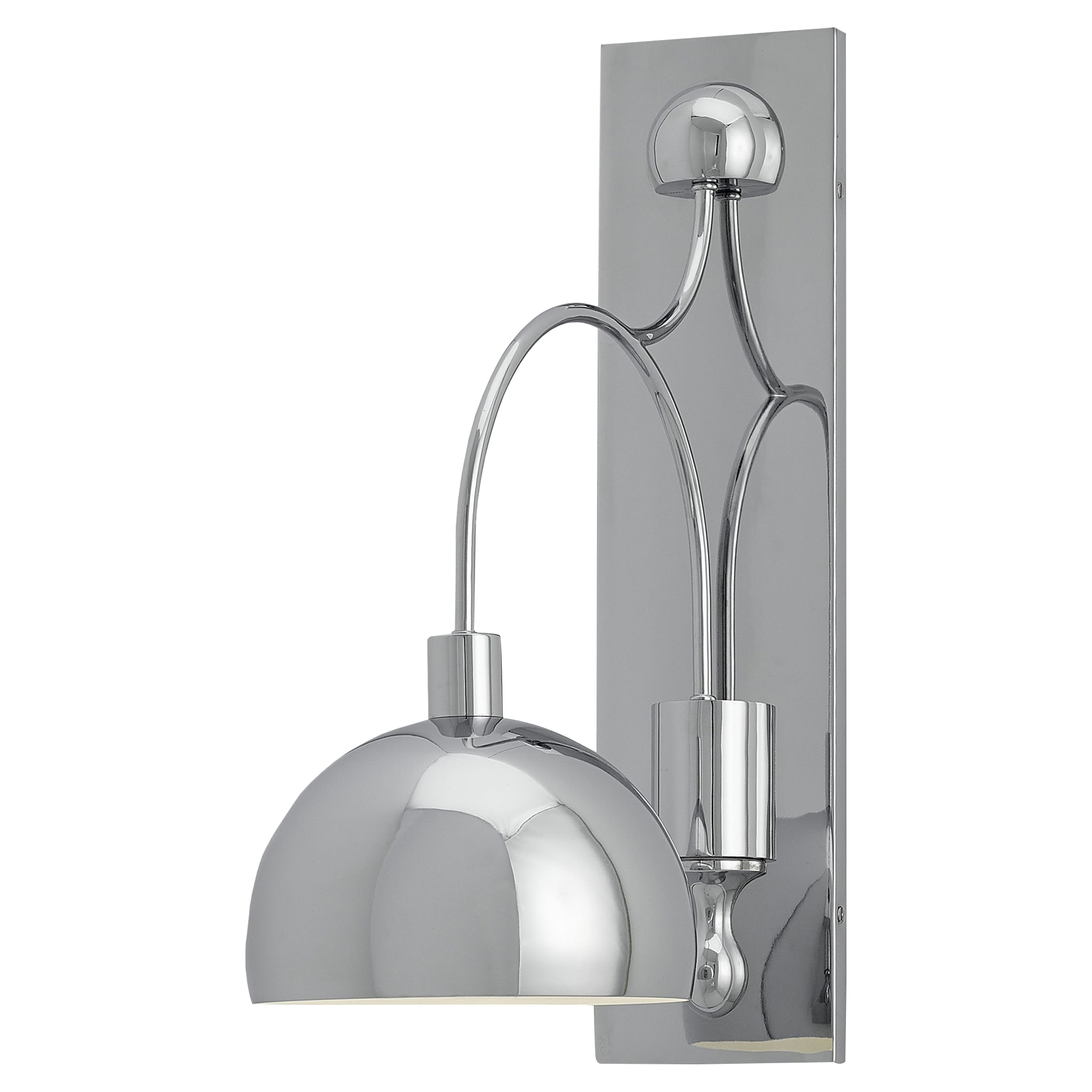 Imogene Modern Classic Round Dome Silver Wall Sconce