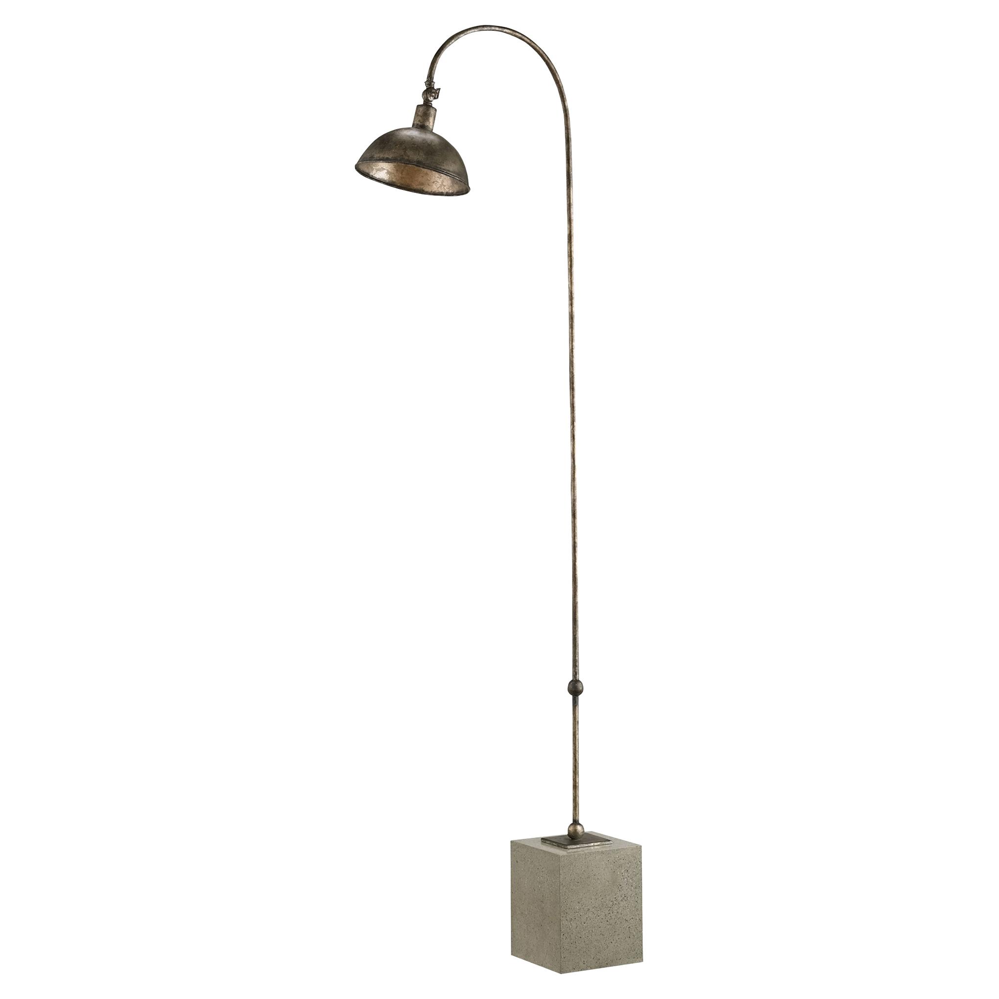 Karida Industrial Loft Concrete Block Iron Floor Lamp
