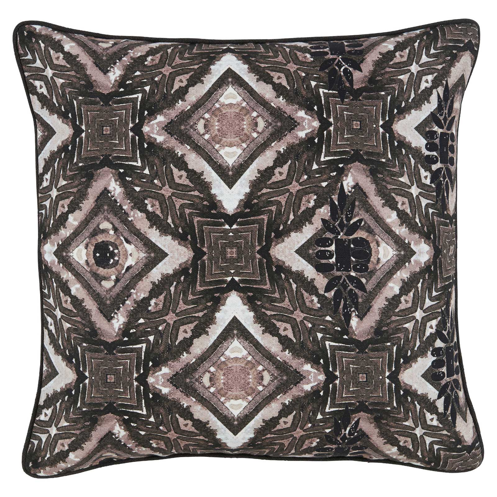 Bartle Modern Ink Blot Charcoal Patterned Pillow - 20x20