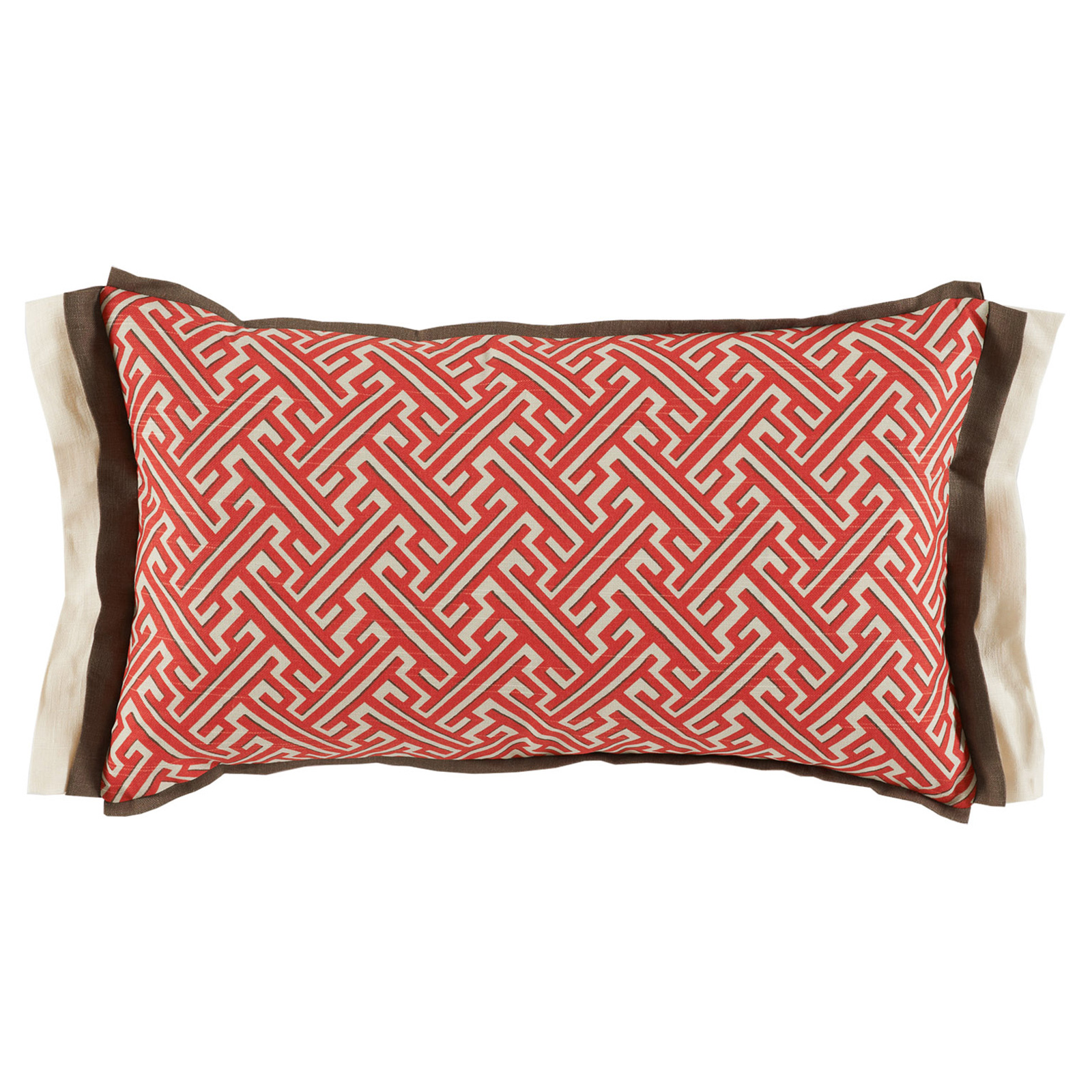 Bluth Modern Classic Graphic Red Pattern Pillow - 13x22