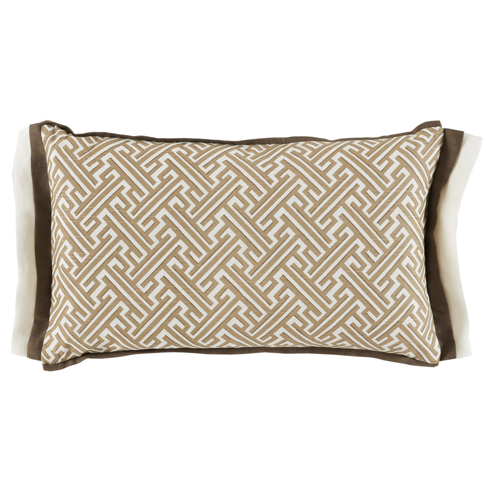 Bluth Modern Classic Graphic Beige Pattern Pillow - 13x22