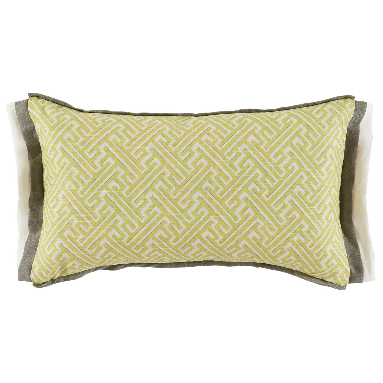 Bluth Modern Classic Graphic Yellow Pattern Pillow - 13x22