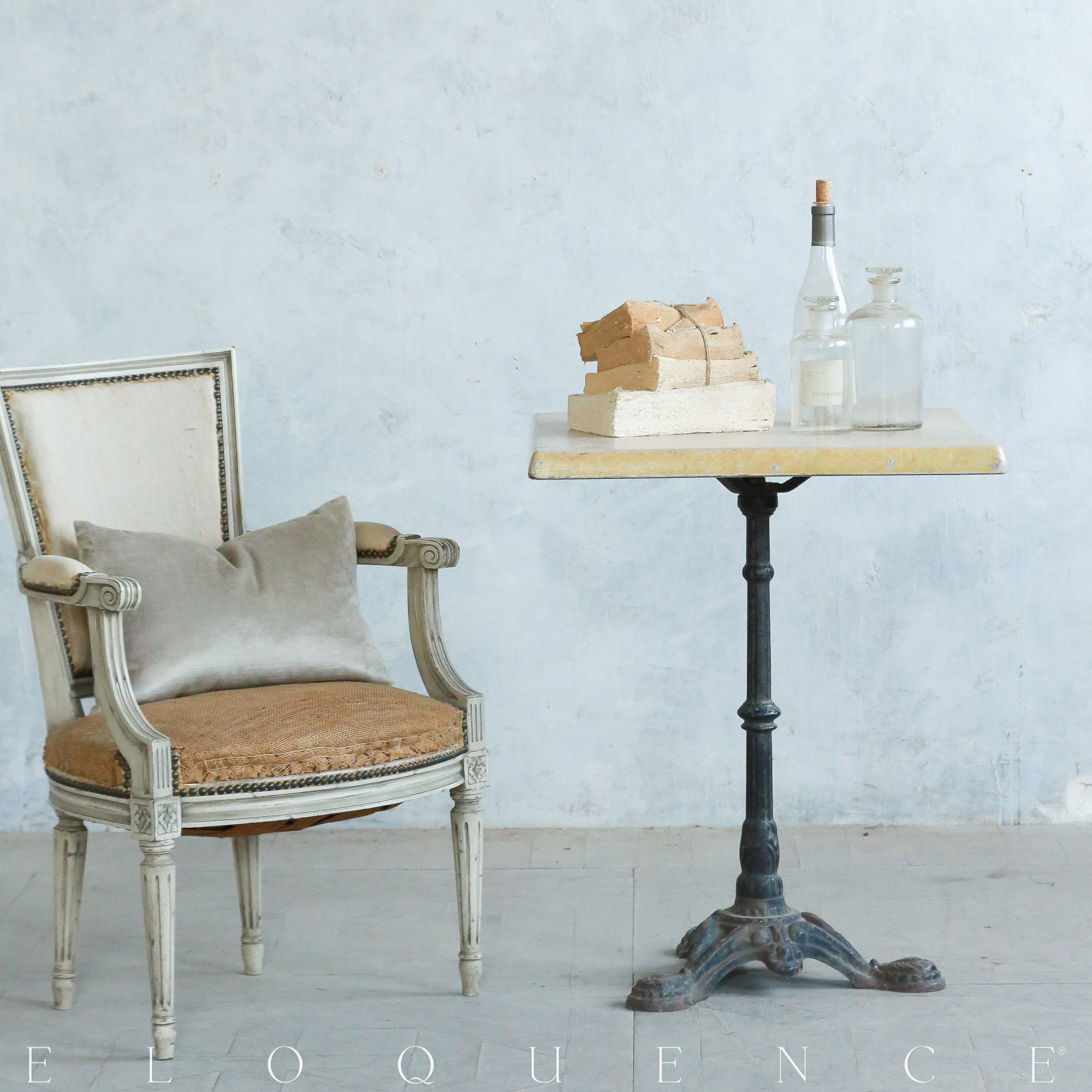 Eloquence® Vintage French Iron Square Cafe Side Table