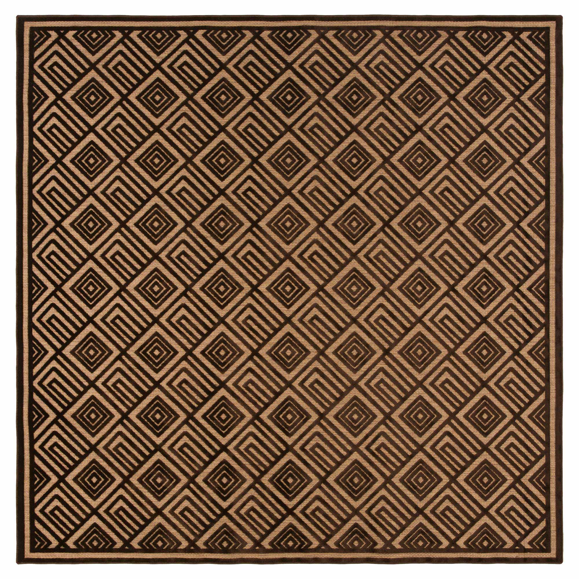 Anouk Global Dark Brown Geometric Outdoor Rug - 2'6 x 7'10Sample
