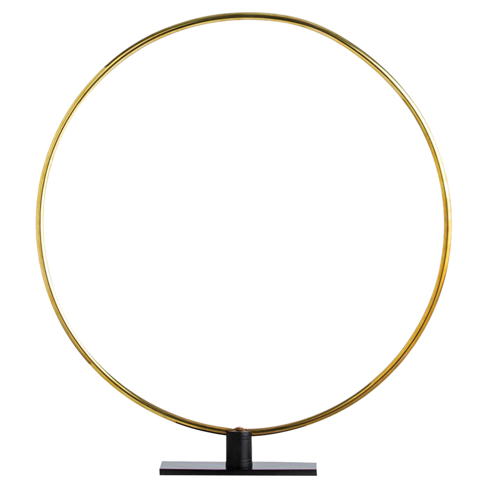 Grant Modern Minimal Polished Brass Ring Sculpture - Small