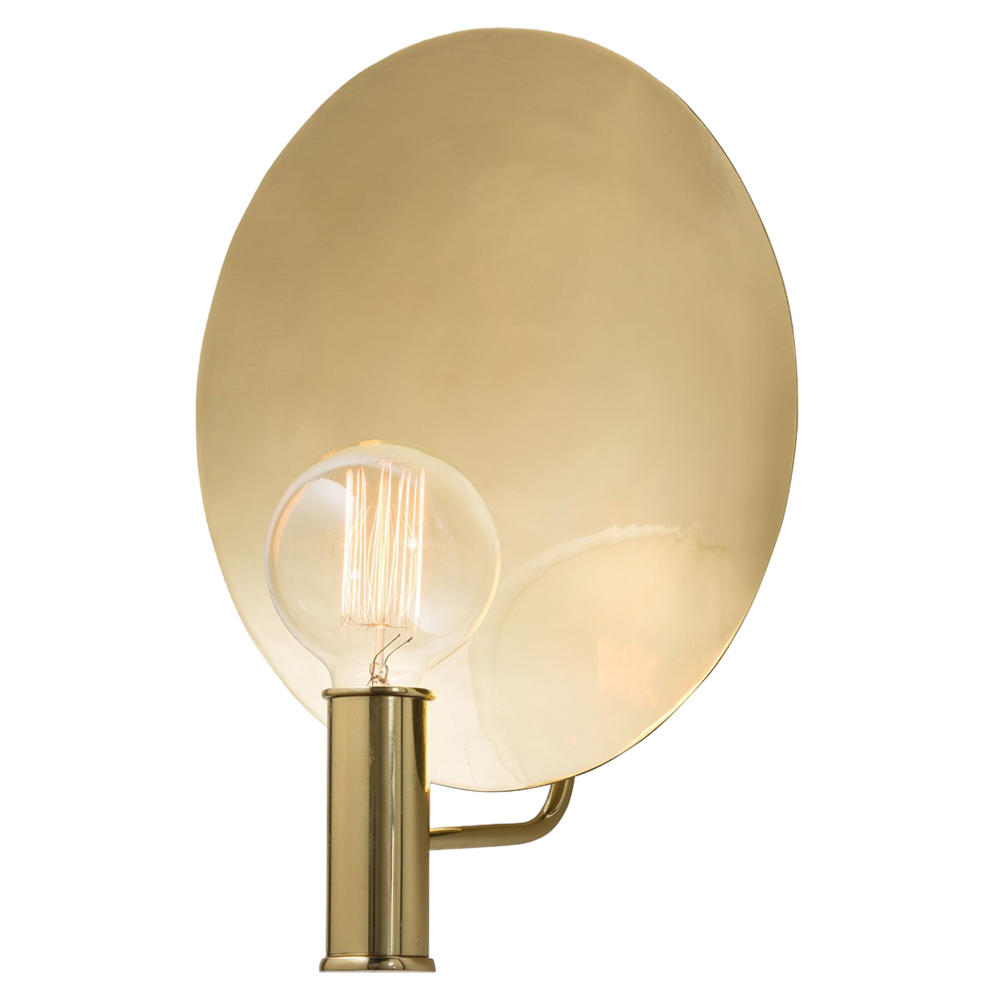 Photoflash Hollywood Regency Polished Brass Wall Sconce