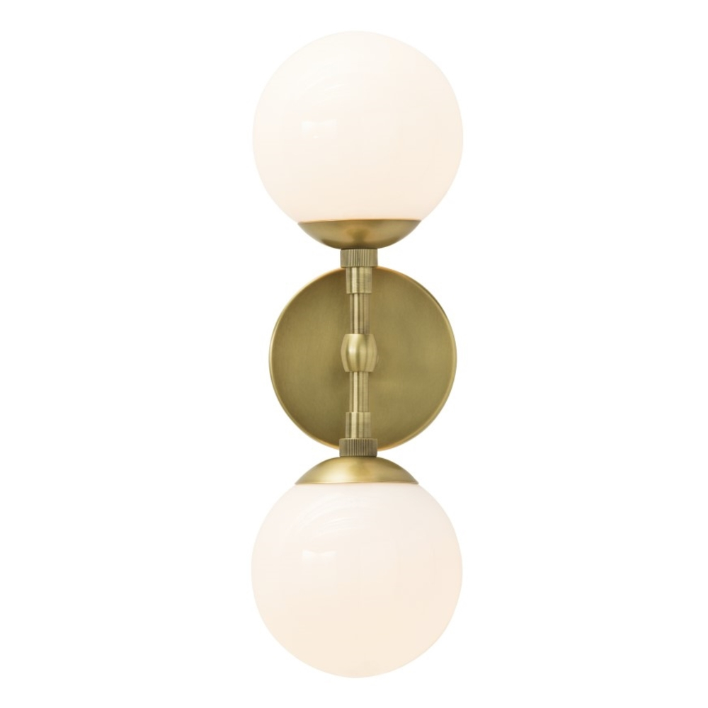 Pool Modern Classic Brass Frosted Globe Wall Sconce