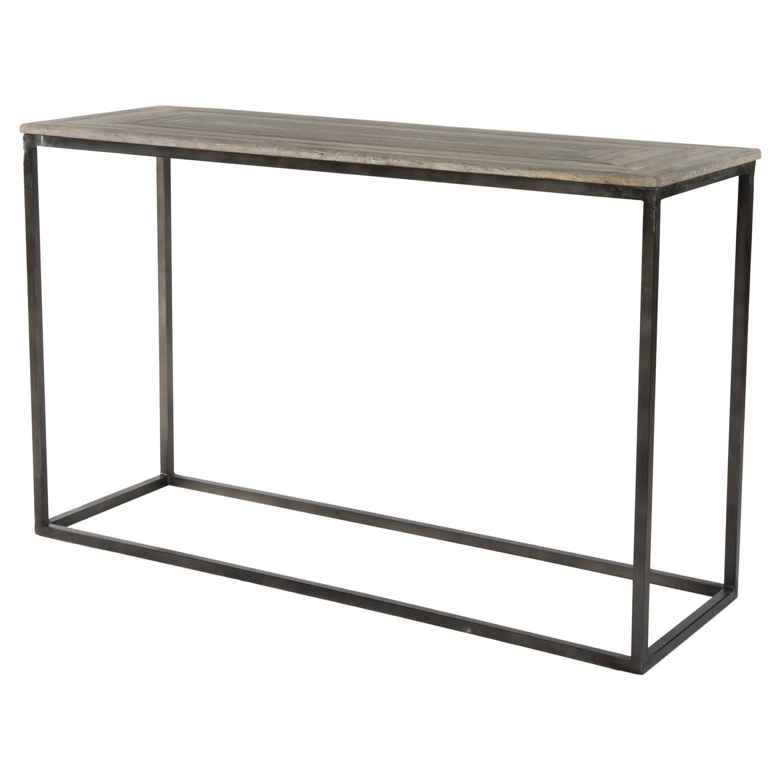 Elgar Lodge Metal Wood Console Table