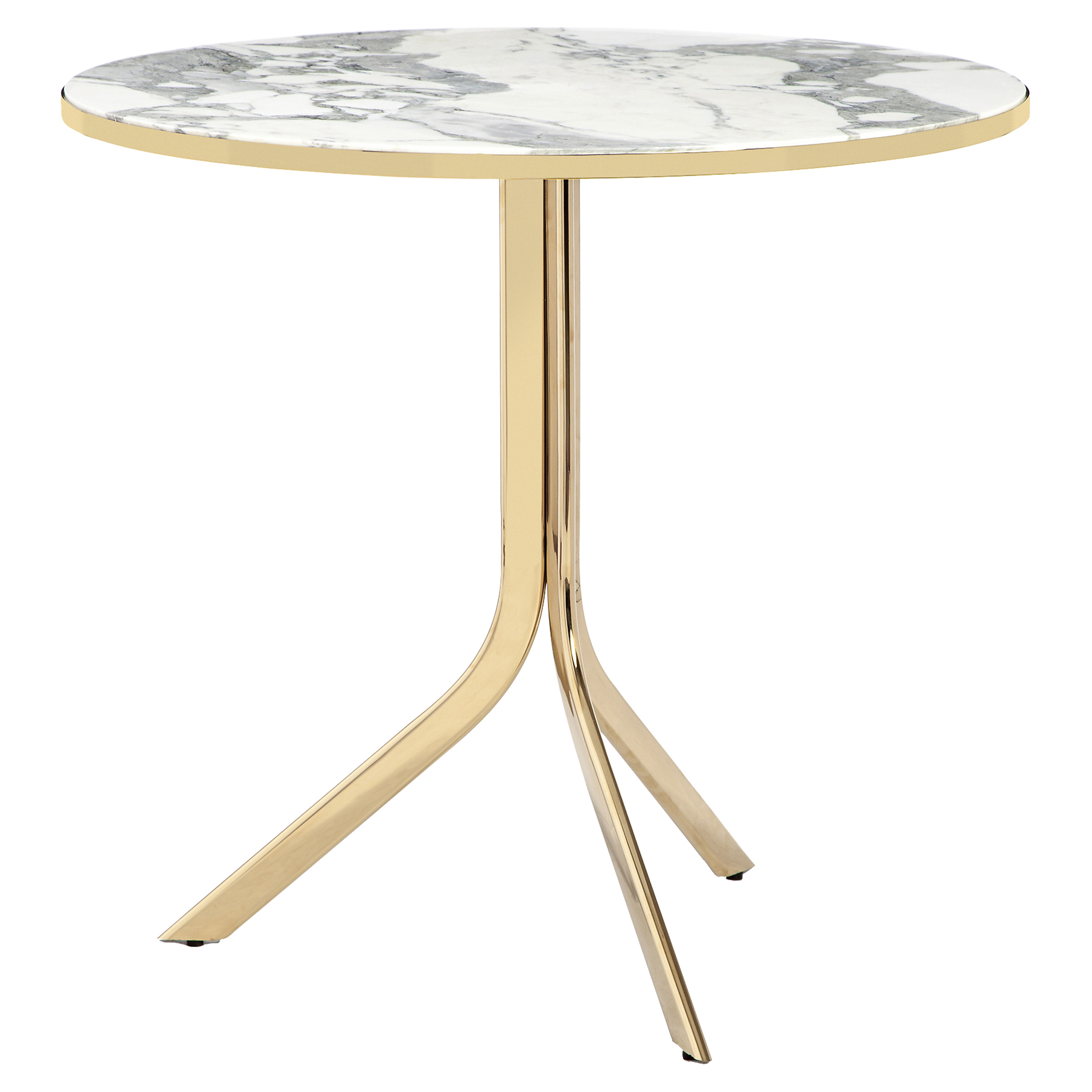 Caprina Modern Brass Marble Folding Bistro Table